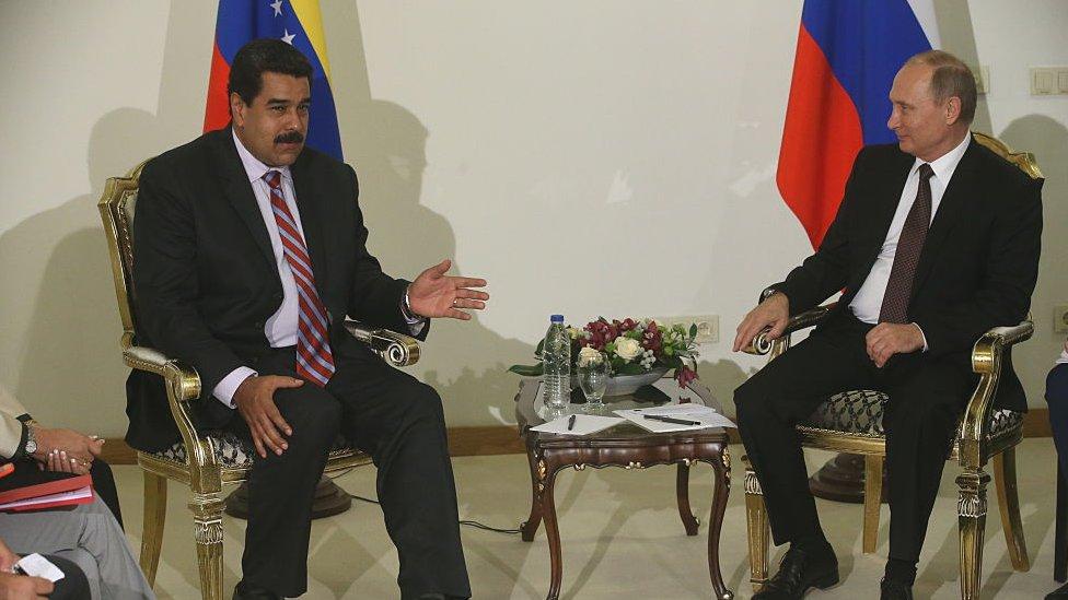 Maduro y Putin recientemente en Moscú.