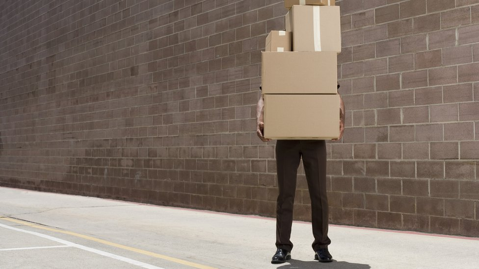 Man with parcels