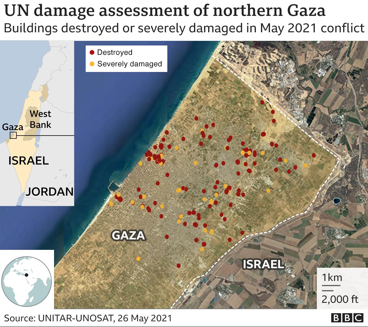Penilain PBB soal kerusakan di Gaza utara setelah konflik Mei 2021