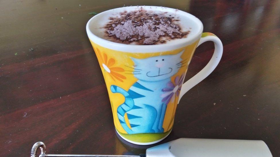 Homemade cappuccino.