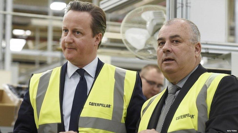 Brendan Barber with David Cameron