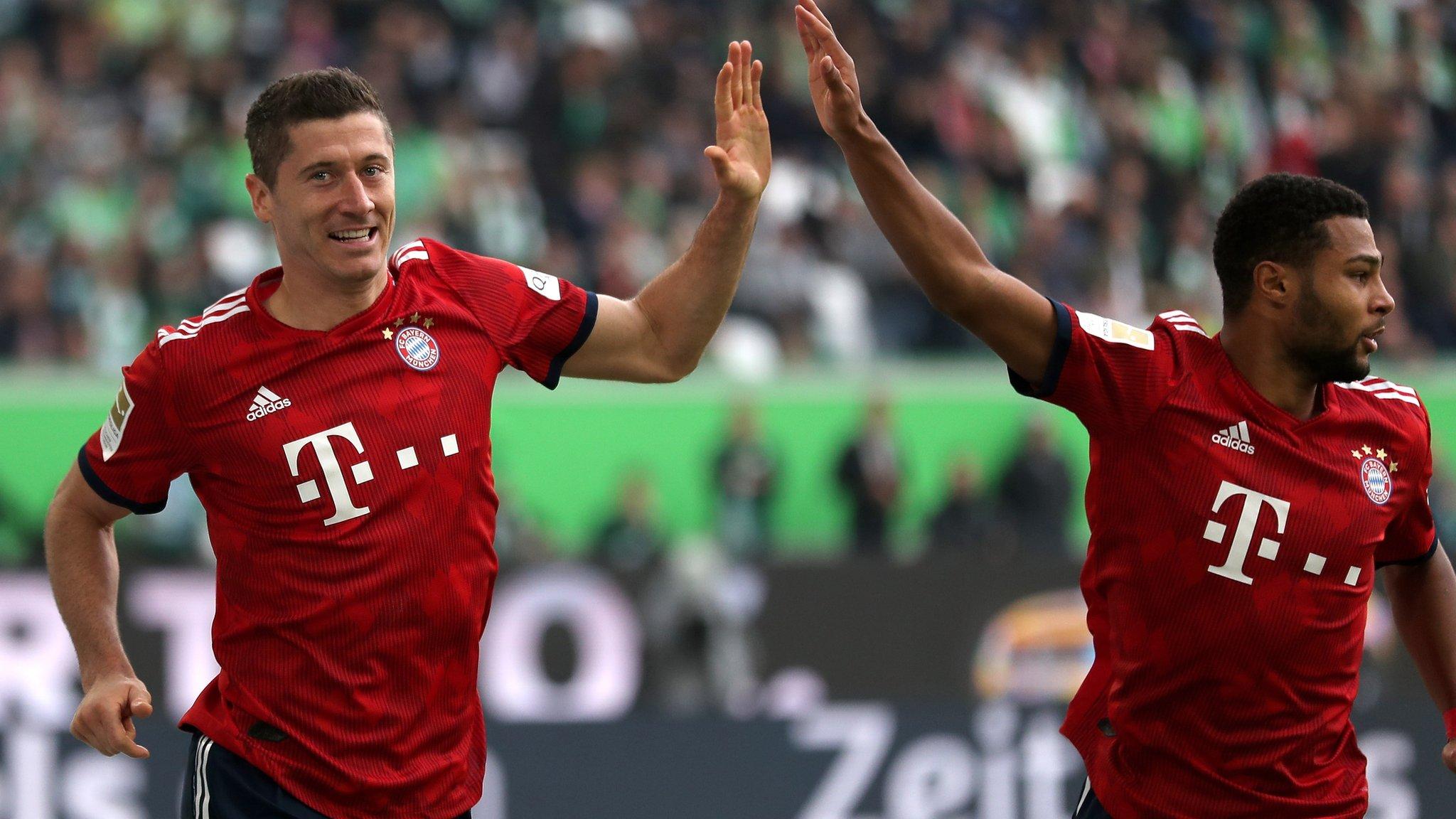 Wolfsburg 1-3 Bayern Munich: Robert Lewandowski helps champions end winless run