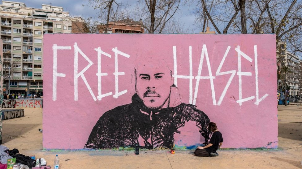 Mural en defensa de Hasél