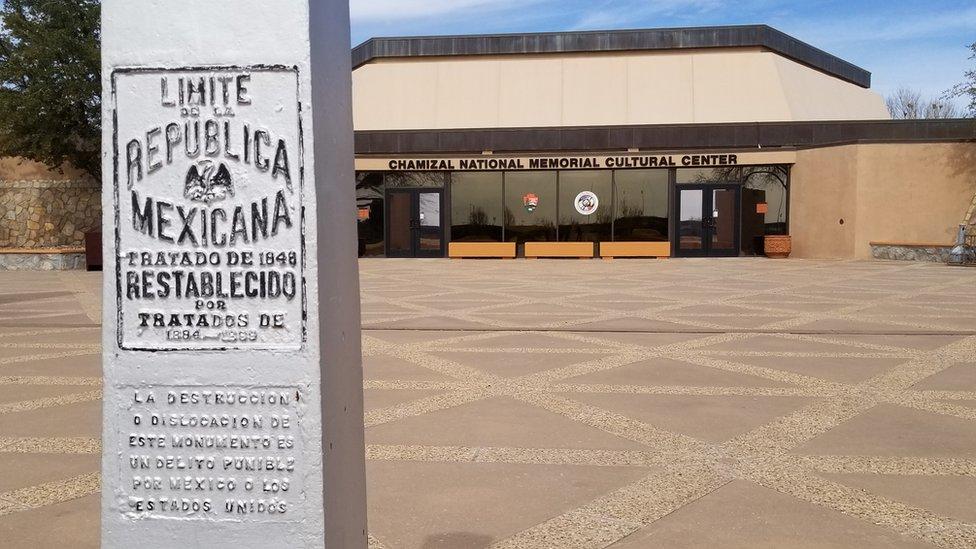 Un poste limítrofe mexicano en El Paso