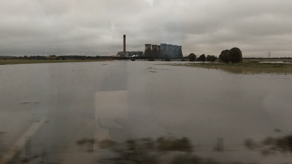 A view from a train near Selby
