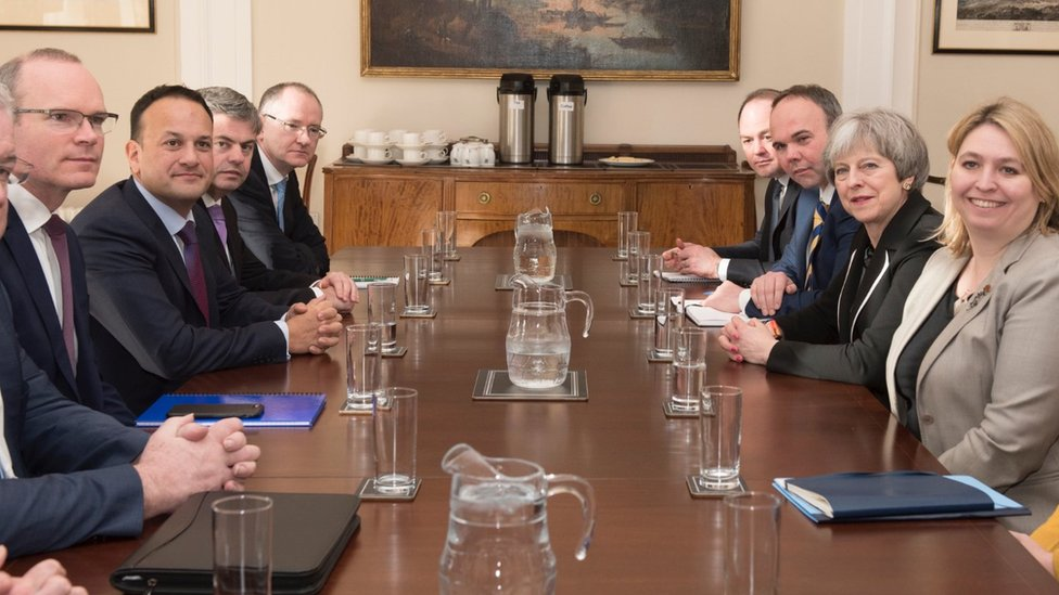 Leo Varadkar and Theresa May held talks attended by British and Irish ministers