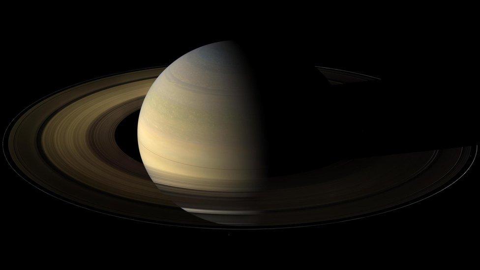 Imagen de Saturno con sus anillos