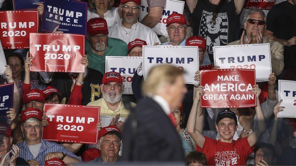 Trump emn campaña para la elección de 2020