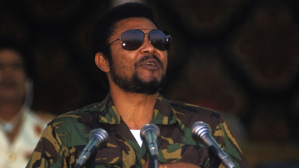 Jerry Rawlings in 1987