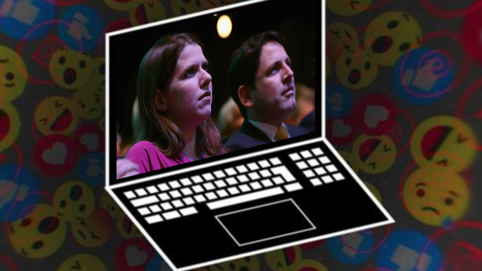 Picture showing Jo Swinson and her husband Duncan Hames who were the subjects of a viral misleading story on Facebook