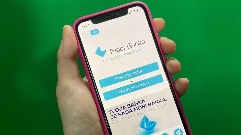 Mobi banka - aplikacija