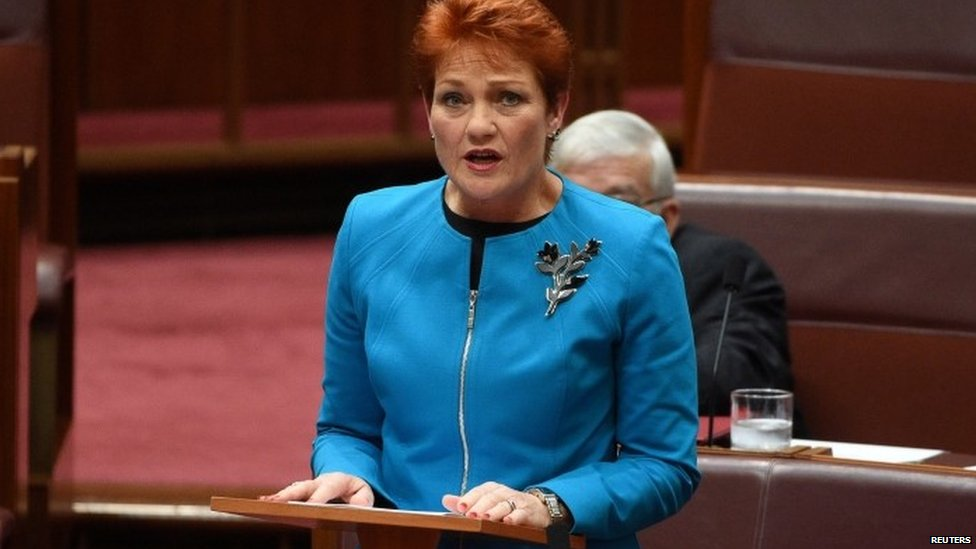 Pauline Hanson makes her maiden speech