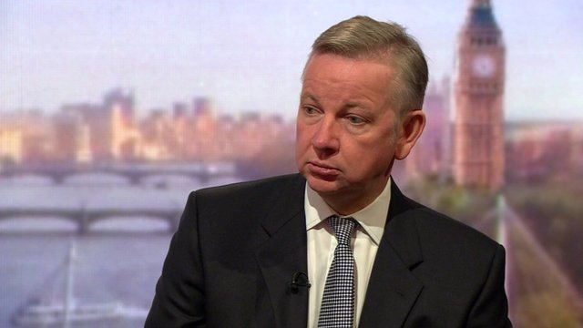 Conservative Justice Secretary Michael Gove MP