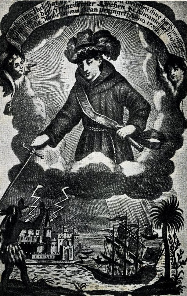 Santo Antônio militar, em ilustração de autor desconhecido