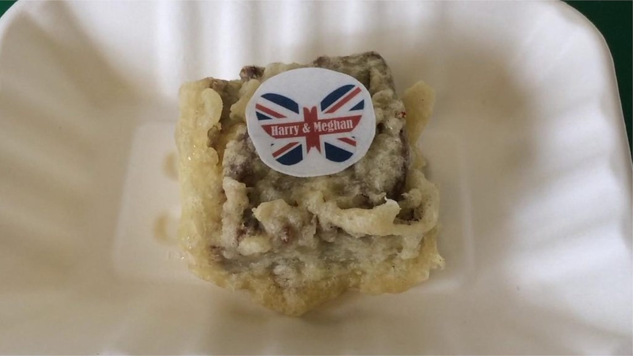 Royal wedding celebrated with battered fruit cake