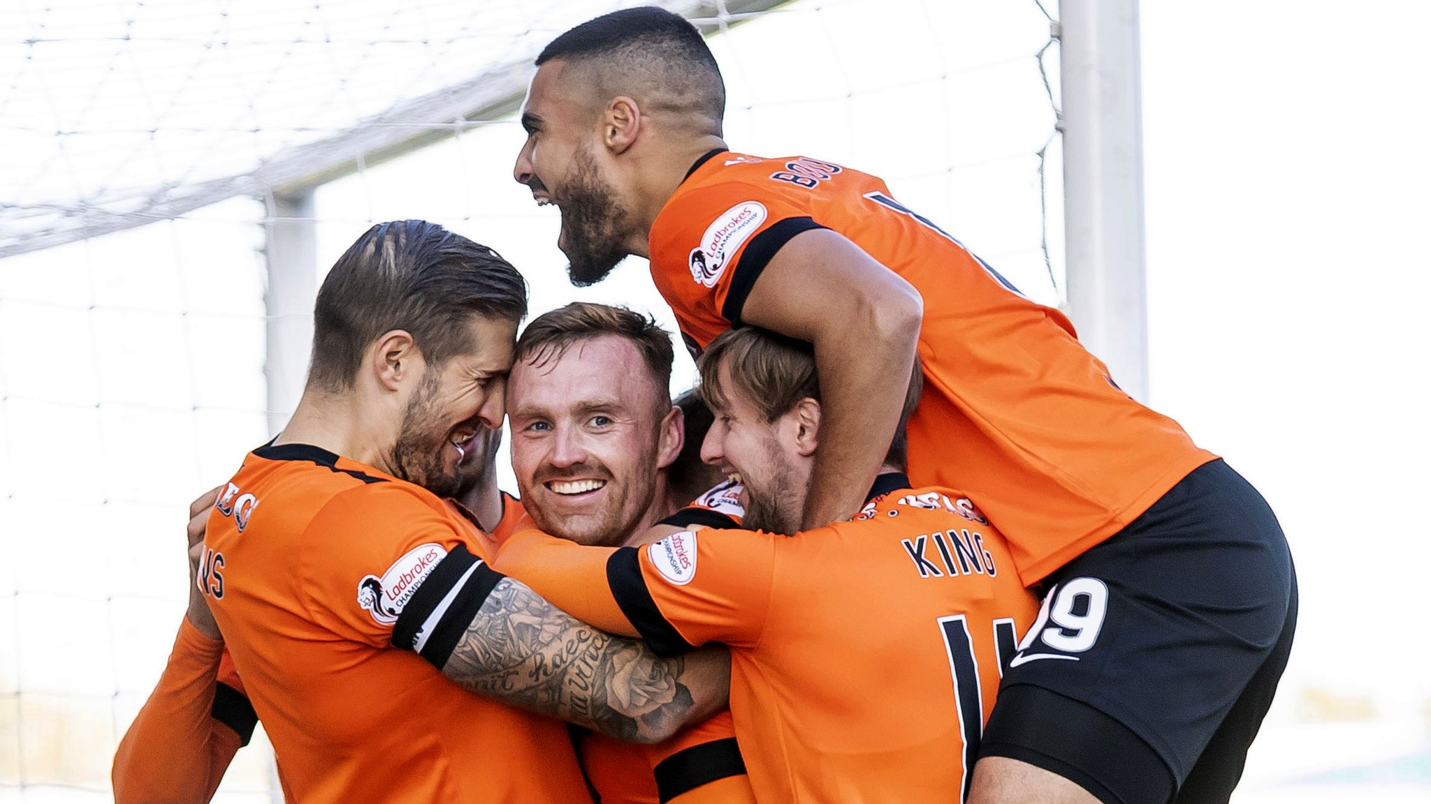 Dundee United beat Falkirk 2-0 in Scottish Championship