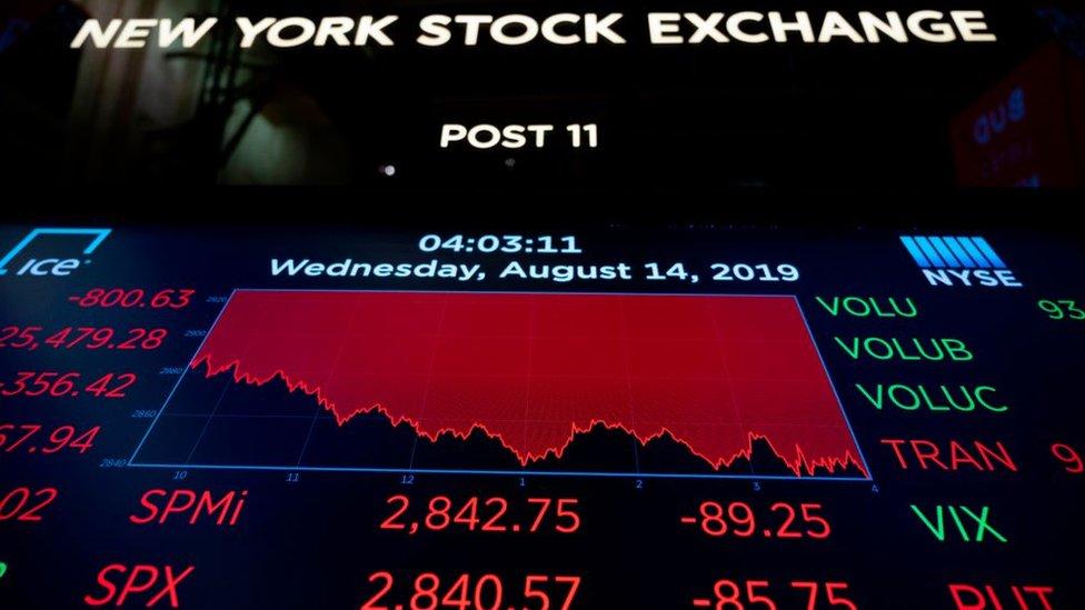 El miércoles, el Dow Jones registró su mayor caída en un día de 2019.