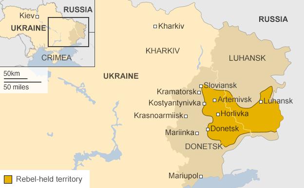Map showing rebel-held area in June