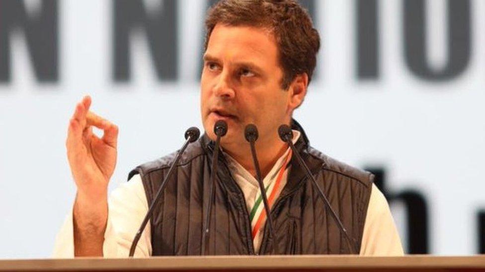 बीजेपी-कांग्रेस की लड़ाई कौरवों-पांडवों जैसी: राहुल गांधी