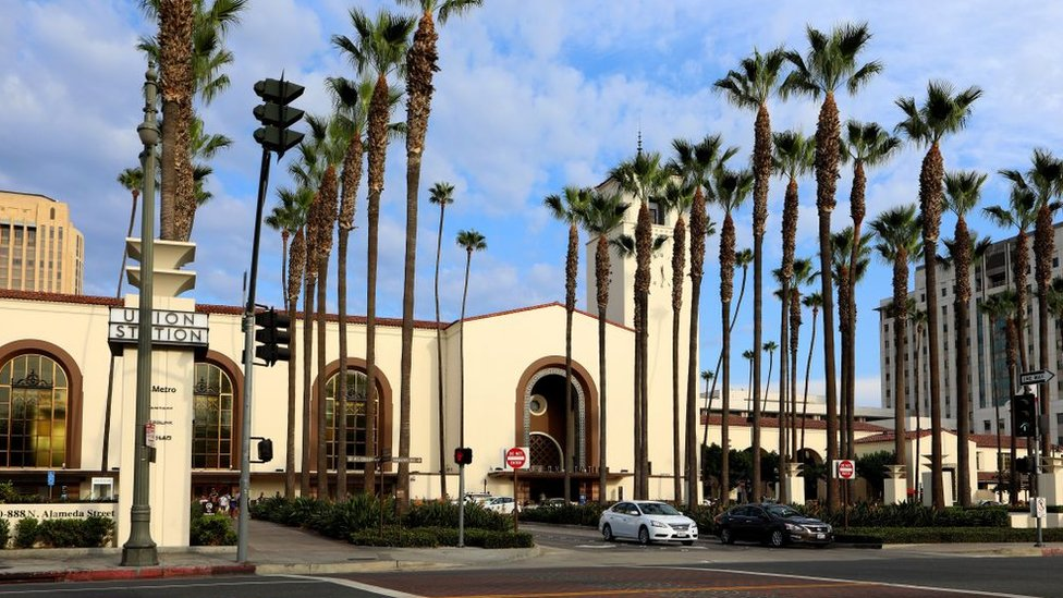 Architects John Parkinson and Donald B. Parkinson's Los Angeles Union Station in Los Angeles, California on September 10, 2017.