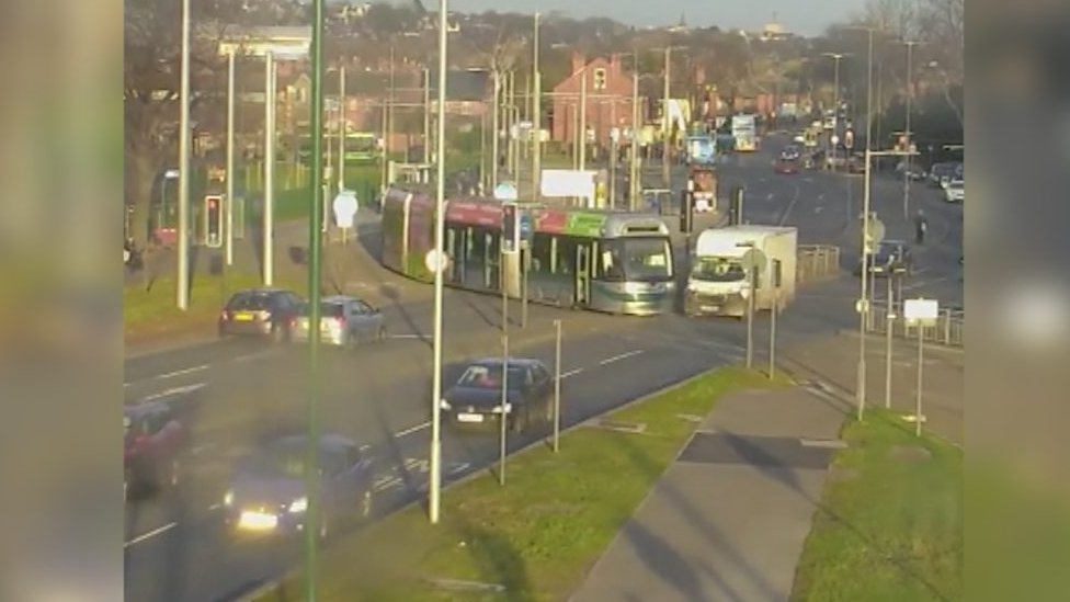 Nottingham tram crash rise prompts video release