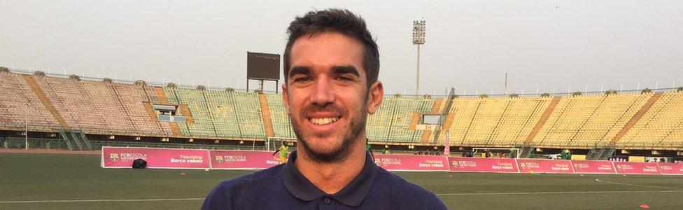 Bernat Gorriz, the Barcelona academy technical director in Lagos