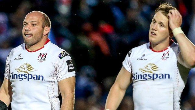 Ulster beaten 30-18 by Leinster in Pro12 semi-final