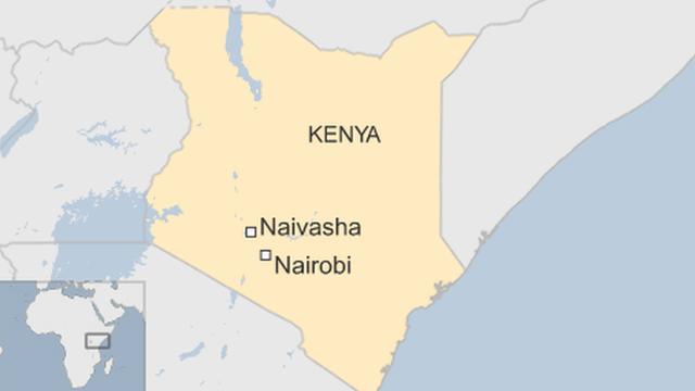 map of Kenya showing Naivasha