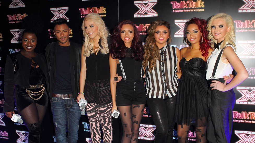 Misha B, Marcus Collins, Amelia Lily and Little Mix in 2011