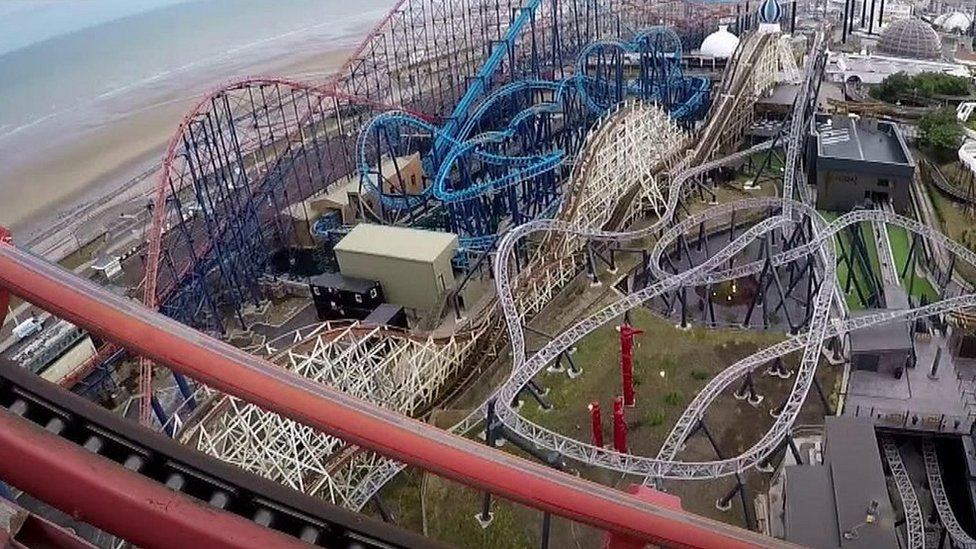 Experience Blackpool's 200ft Big One rollercoaster by foot