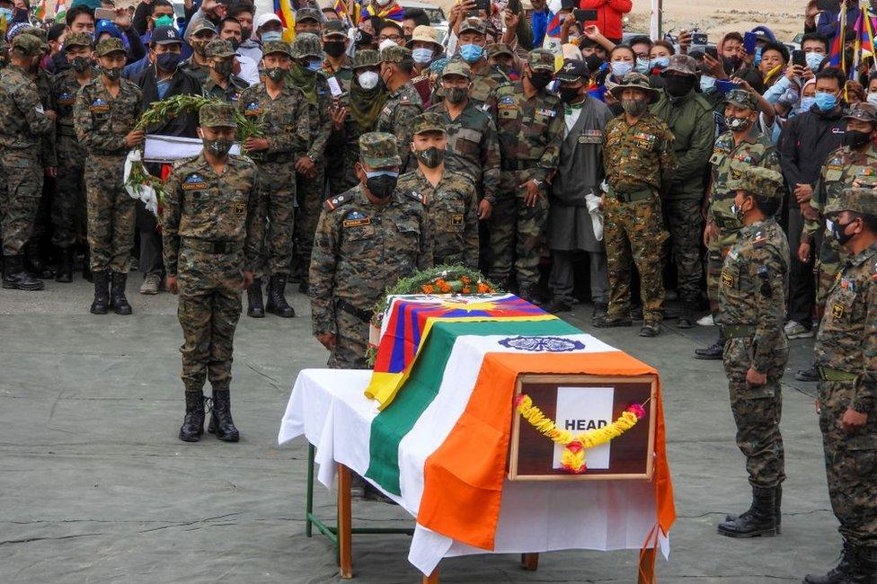 2020年9月7日,尼瑪丹增被給予了軍方規格的葬禮。