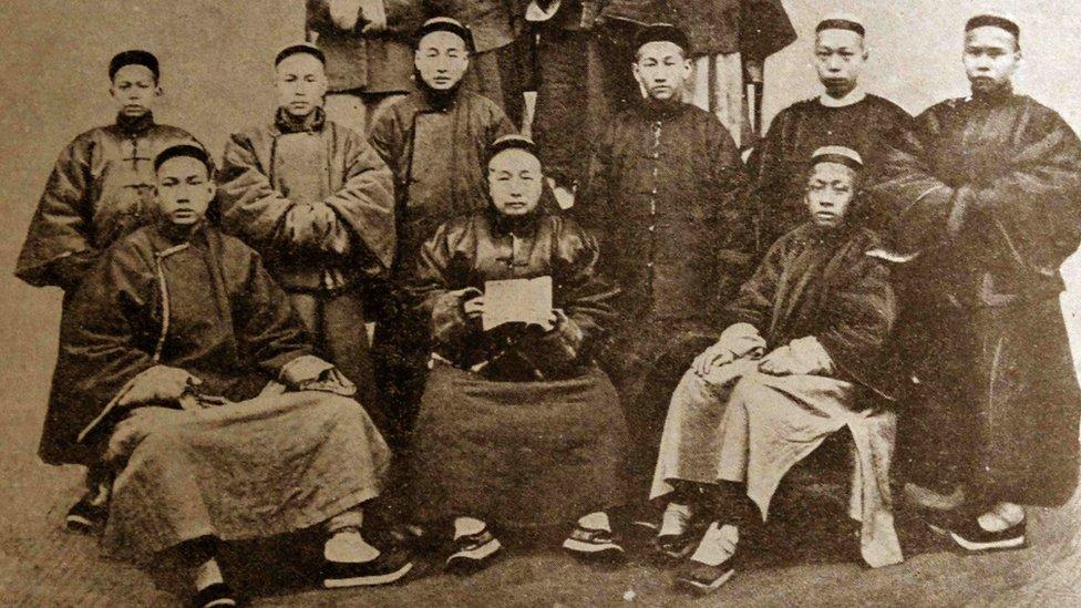 晚清時期衙門職員(約1880年)