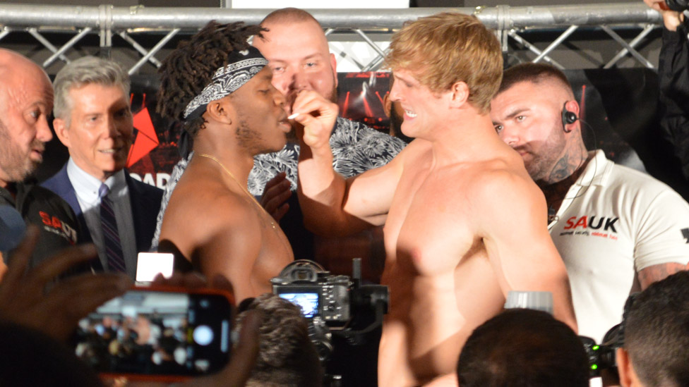 Logan apparently fed KSI chewing gum at the weigh-in