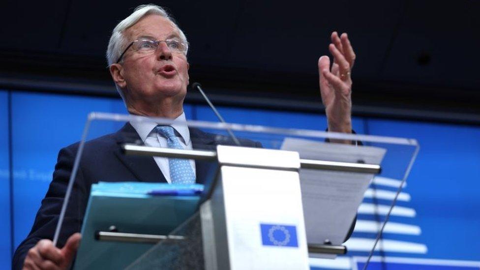 EU chief negotiator Michel Barnier speaks in Brussels. Photo: 16 October 2020