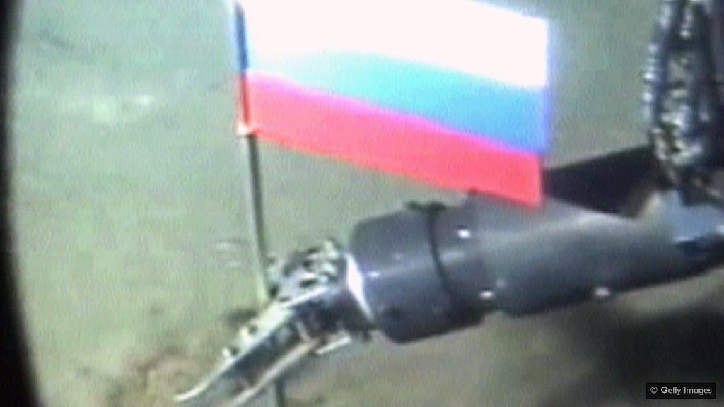 rusija zastava podmornica arktik