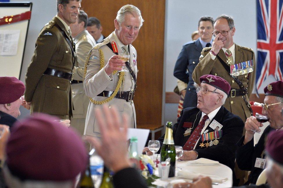 Princ nazdravlja veteranima