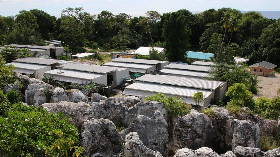A refugee camp on the Pacific island of Nauru