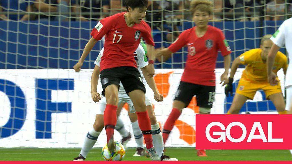 Women's World Cup 2019: Brilliant Lee Geum-min backheel sets up South Korea's first goal