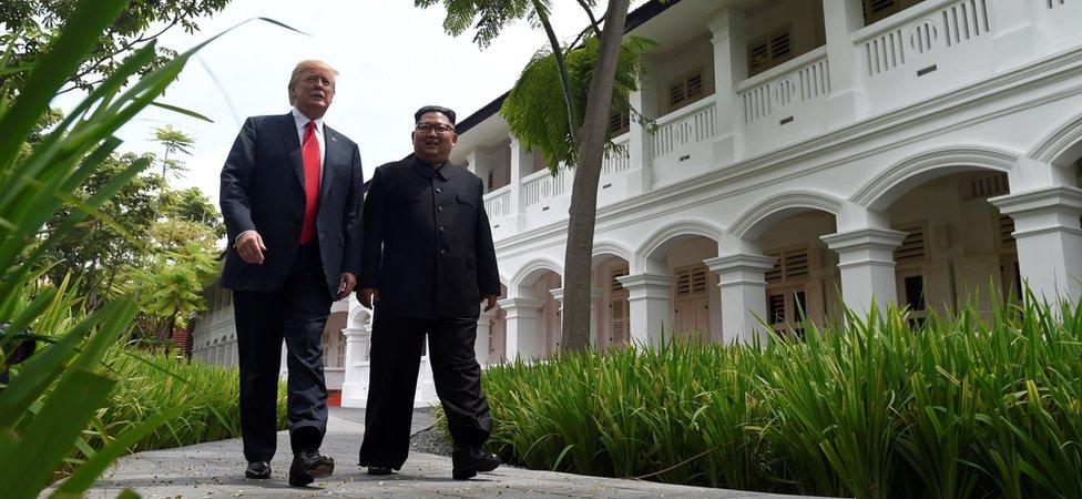 Donald Tramp i Kim Džong Un u Singapuru (jun 2018)