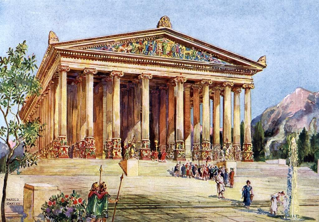 El templo de Artemisa, Éfeso. Ilustración de