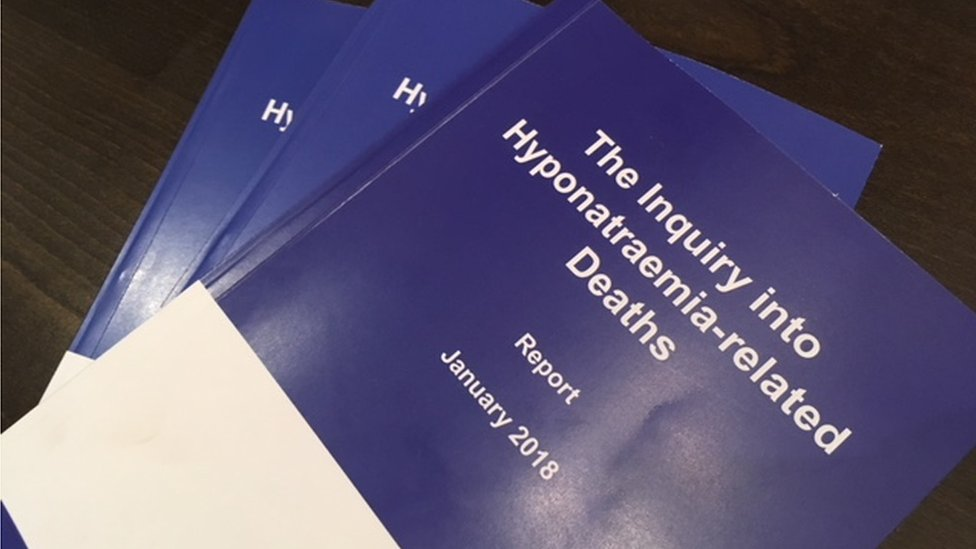 Copies of the report from the Inquiry Into Hyponatraemia-related Deaths
