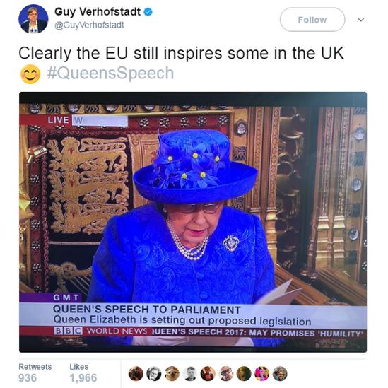 Screengrab of Guy Verhofstadt's tweet