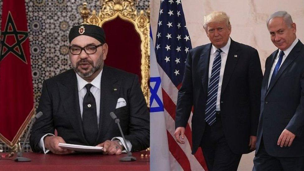 نتنياهو وترامب ومحمد السادس