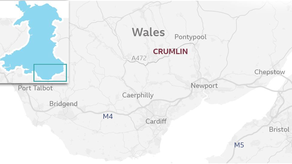 Map of the most polluted road in Wales