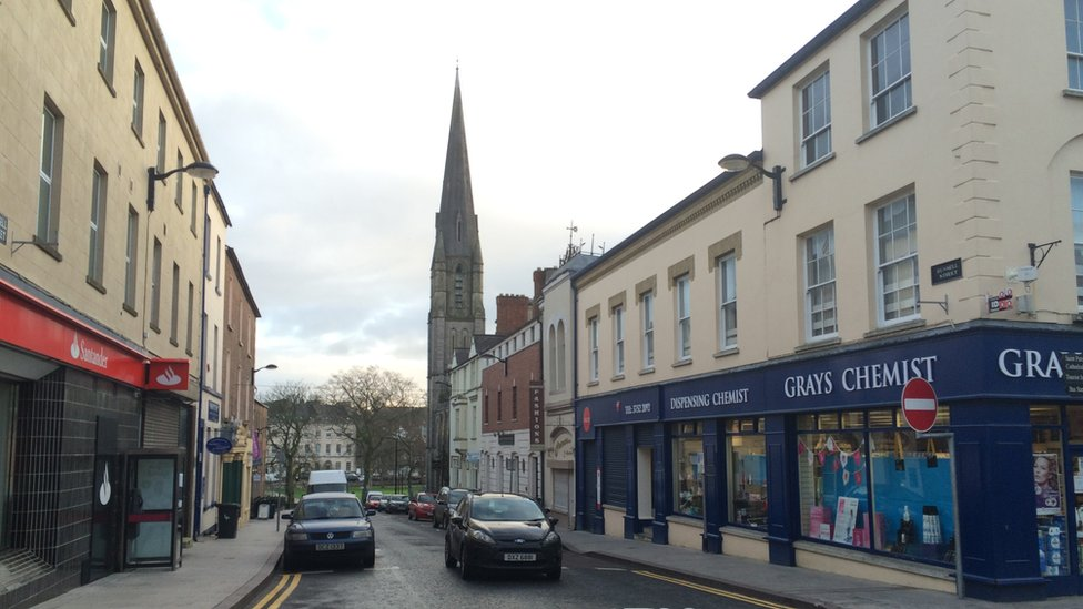 Russell Street in Armagh city