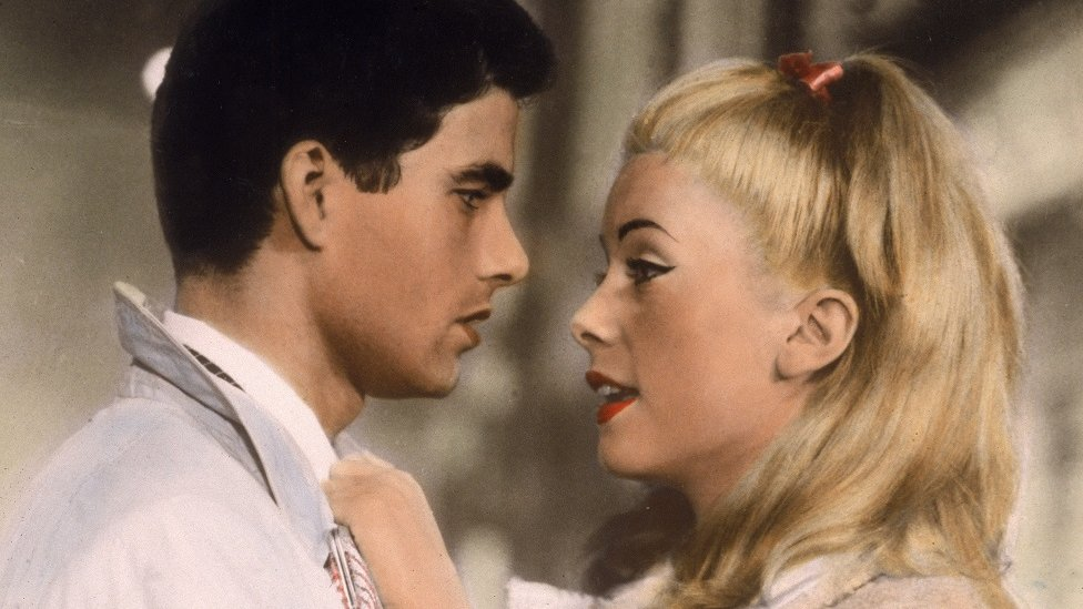 Nino Castelnuovo y Catherine Deneuve