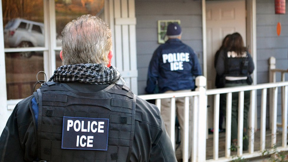 US Immigration and Customs Enforcement officers