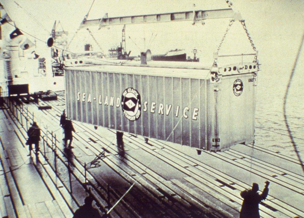 A SeaLand container