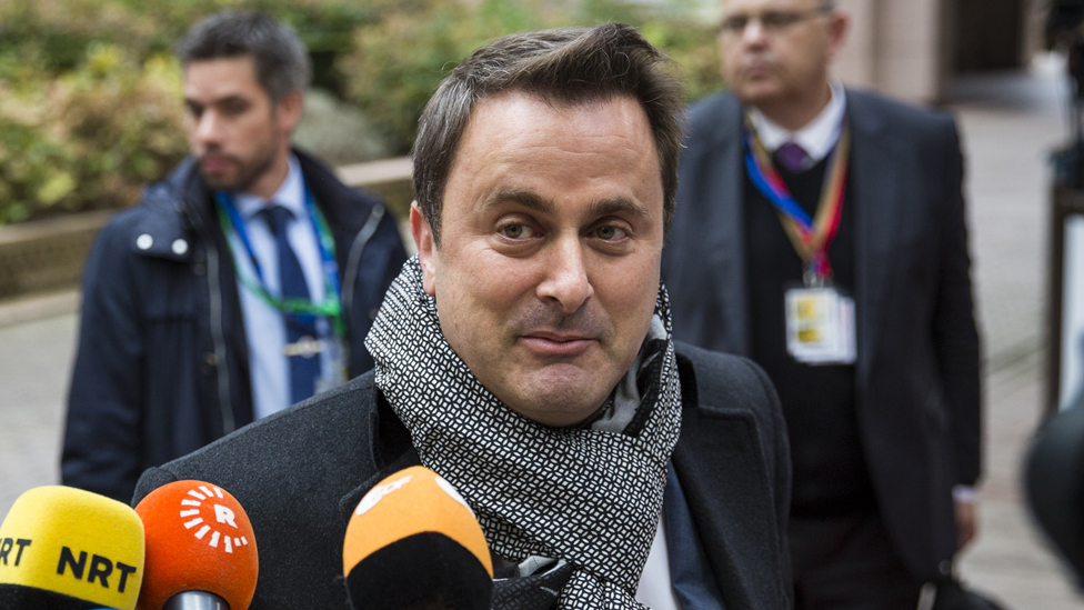 Prime Minister of Luxembourg Xavier Bettel arrives at the Council of the European Union on the first day of a two day summit on October 20, 2016 in Brussels,