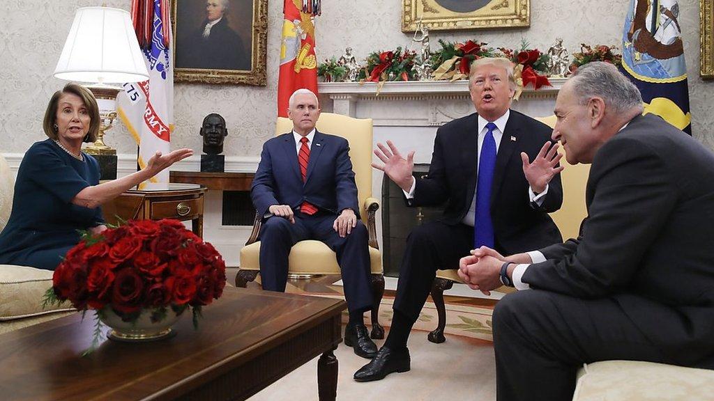 'Chuck and Nancy' spar with president over 'Trump shutdown'